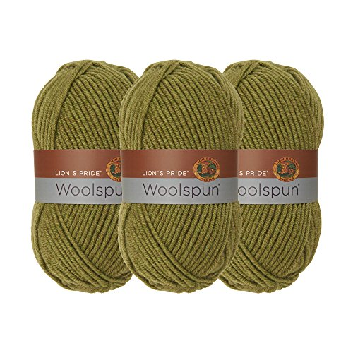 Wool Yarn Avocado - (3 Pack) Lion Brand Yarn 671-173 Lion's Pride Woolspun Yarn, Avocado