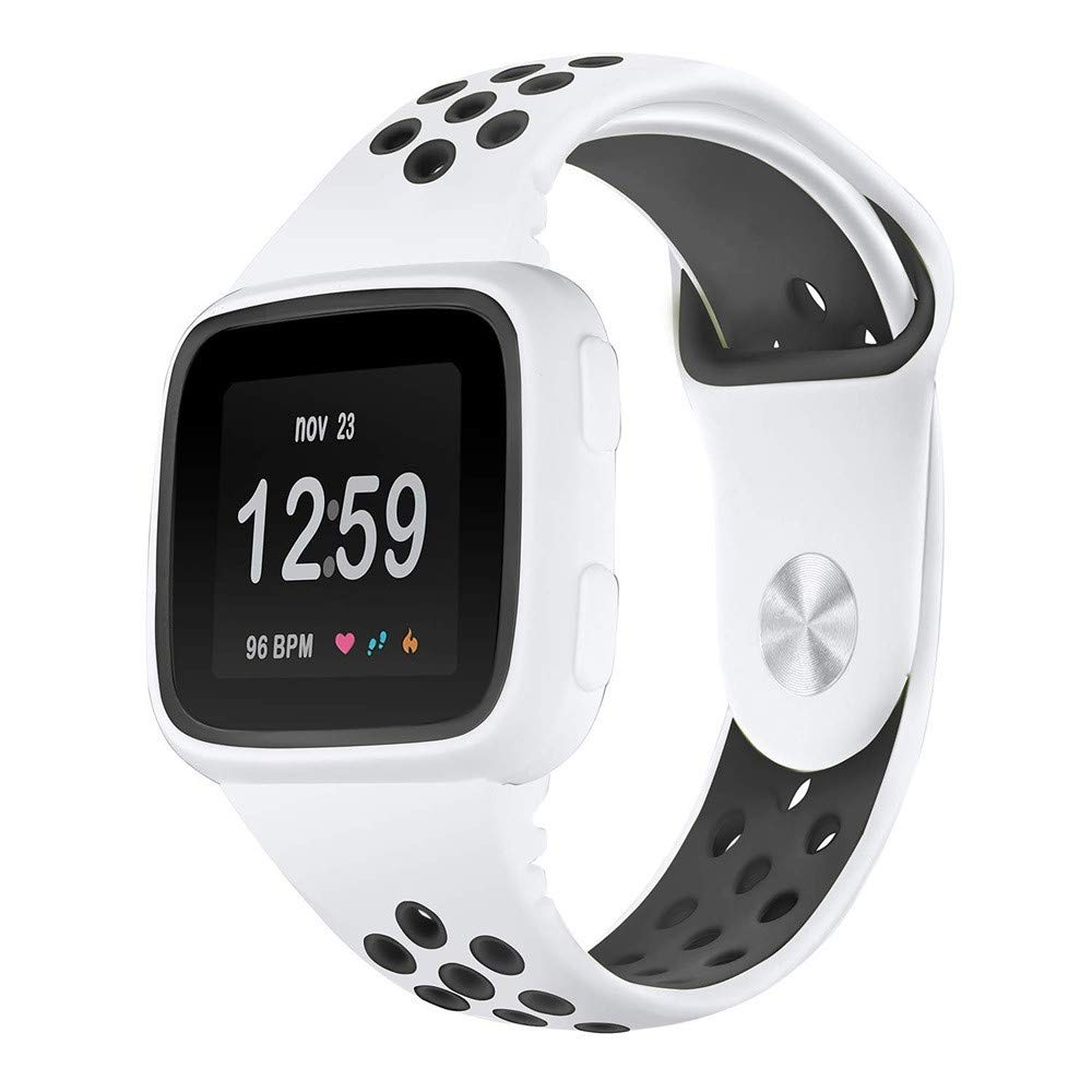 yuemizi Replacement Watch Band Bracelet Soft Silicone Sport Strap+Frame For Fitbit Versa (White) by yuemizi (Image #1)