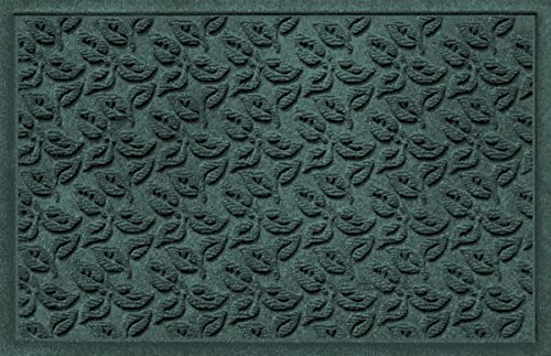 Bungalow Flooring Waterhog Doormat, 2' x 3', Skid Resistant, Easy to Clean, Catches Water and Debris, Dogwood Leaf Collection, (Flooring Collection)