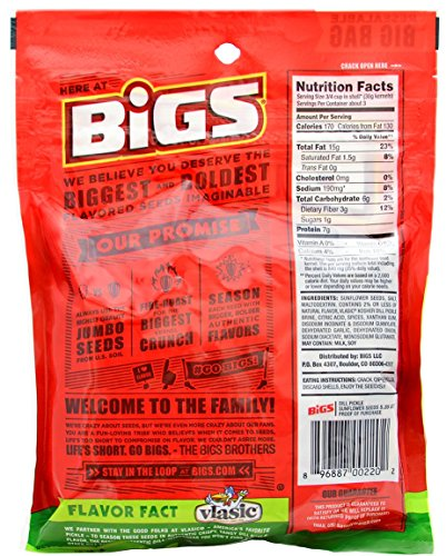 Bigs Sunflower Seed Flavor Variety Pack 9 bags (5.35oz each) with Bonus Magnet by BIGS (Image #4)