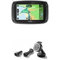 Pack TomTom RIDER 420 + Kit de Fixation pour Voiture - GPS Moto - Cartographie Europe 48, Trafic, Zones de Danger à Vie et Appel Mains-Libres
