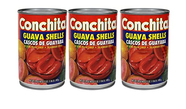 Amazon.com : Conchita Guava Shells in Extra Heavy Syrup, 17oz (3 cans) Cascos de Guayaba en Alimibar Espeso : Grocery & Gourmet Food