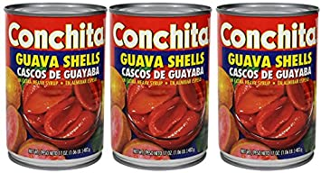 Conchita Guava Shells in Extra Heavy Syrup, 17oz (3 cans) Cascos de Guayaba