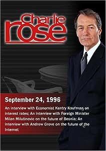 Charlie Rose with Henry Kaufman; Milan Milutinovic; Andrew Grove (September 24, 1996)