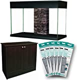 Hagen Fluval Accent Glass Aquarium, 25-Gallon, Espresso Stand for Aquarium, and One-year (6) Renewal Kits