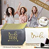 6 Piece Set | Rose Gold Bride Tribe Canvas Cosmetic