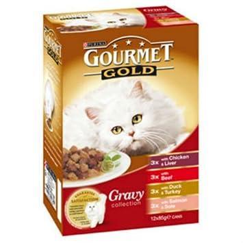 Gourmet Gold in Gravy - Comida para gatos (12 x 85 g): Amazon.es: Productos para mascotas