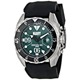 Wrist Armor Men's WA434 C3 Stainless Steel Analog Display Swiss Quartz Watch with Black Silicone Strap