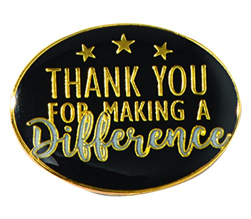 (TCDesignerProducts Thank You for Making a Difference Oval Appreciation Award Lapel Pins, 12 Pins)