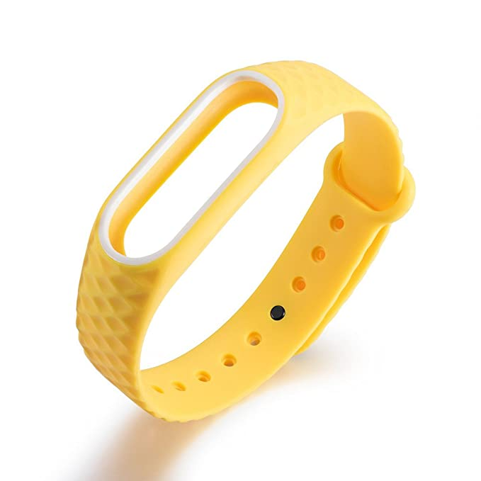 JiaMeng Fashion Light Original Pulsera de muñeca de la Correa del Reloj del silicón del reemplazo de la Correa para Xiaomi Mi Band 2(Amarillo): Amazon.es: ...