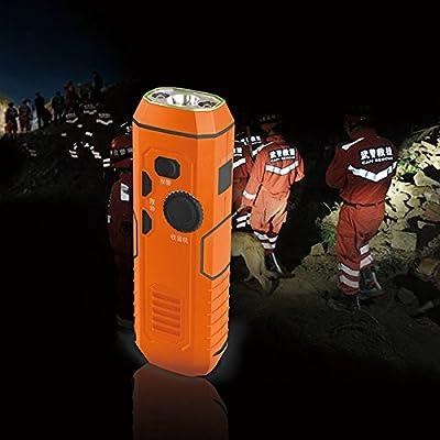 Dsstyle manuel/chargement USB radio électrique d'urgence lampe de poche portable lampe de poche en PVC lampe de camping lumière
