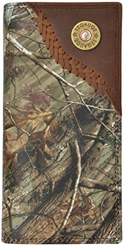 3D Men's Badger Camo Leather Outdoor Rodeo Wallet Camouflage One Size