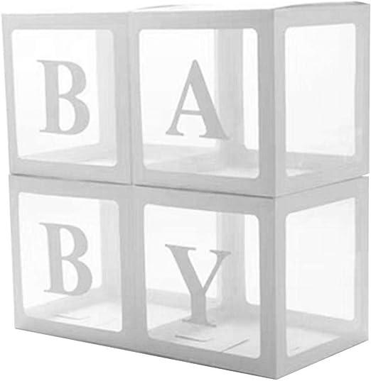 PITCHBLA 4PCS DIY Caja transparente cuadrada para globo de látex ...