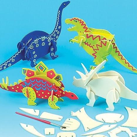 Kit Crea Dinosauri Di Legno Per Bambini Da Creare Personalizzare Ed