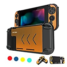 Nintendo Switch Protective Case - Anti-scratch Dustproof Shockproof Protective Cover Shells For Nintendo Switch Console And Joy-Con Controller NS (Yellow)