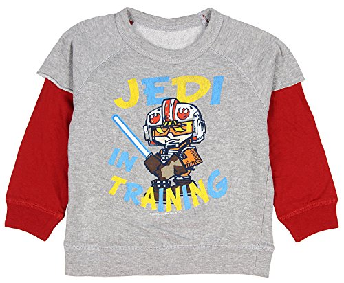 Mad Engine Star Wars Baby Boys Jedi In Training Reversible Long Sleeve Shirt, (Reversible Long Sleeve Top)