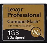 Lexar Media 1 GB 80x Pro Series Compact Flash Card (CF1GB-80-380)