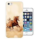 003513 - Cool Galloping Horses Design iphone SE / iphone 5 5S Fashion Trend CASE Gel Silicone All Edges Protection Case Cover