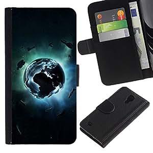 All Phone Most Case / Oferta Especial Cáscara Funda de cuero Monedero Cubierta de proteccion Caso / Wallet Case for Samsung Galaxy S4 IV I9500 // Planet Explosion