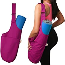 SporthoCare Yoga Mat Bag Carrier | Multifunctional with Adjustable Shoulder Strap | Yoga Mat Tote w/ Large Side Pocket & Zipper Pocket | Fits Most Size Yoga Mats | Kit with Yoga Ebook