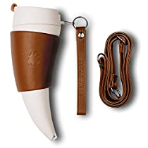GOAT STORY Mug, Real leather, 16 oz, Brown