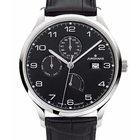 Junghans Reloj de pulsera para hombre XL Attaché Agenda analógico automático piel 027/4762.00: Amazon.es: Relojes