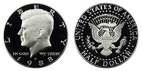 1988 S US MInt Deep Cameo Kennedy Proof Half DCAM