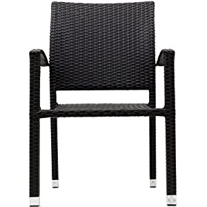 lexmod bella outdoor stackable dining chairs in espresso bela stackable office chair
