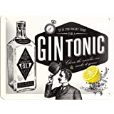 Plaque en metal 15x20 -Gin Tonic