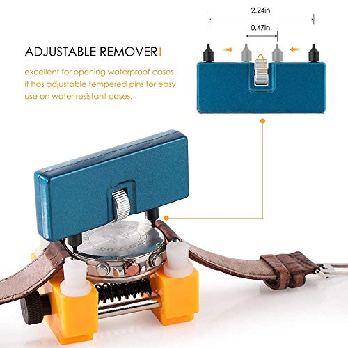 Watch Battery Replacement Tool Kit for Watch Back Case Remover and Opener