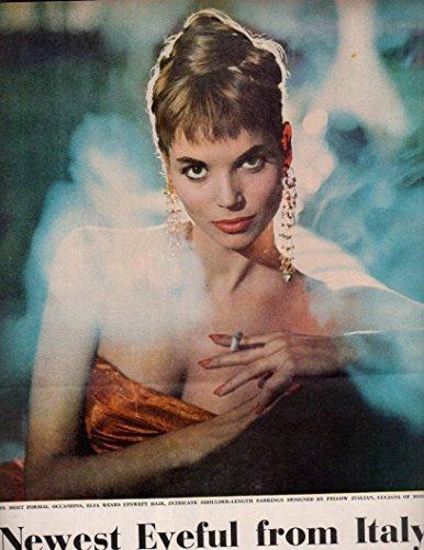 Elsa Martinelli Smoking original clipping magazine photo 3pg 9x12 #Q6600
