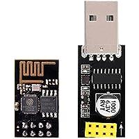 IZOKEE ESP8266 ESP-01 Serial WIFI Wireless Transceiver Module with USB to ESP8266 Adapter for Arduino UNO R3 Mega2560 Nano Raspberry Pi (ESP-01 + USB)