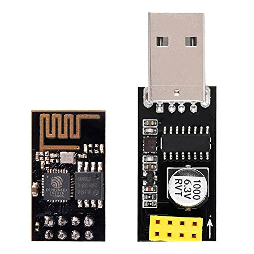 IZOKEE ESP8266 ESP-01 Serial WIFI Wireless Transceiver Module with USB to ESP8266 Adapter for Arduino UNO R3 Mega2560 Nano Raspberry Pi (ESP-01 + USB)