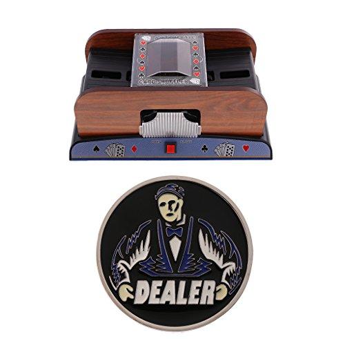Baosity Automatic Poker Card Shuffler Casino Games Playing Shuffling Toy +Dealer #6 by Baosity