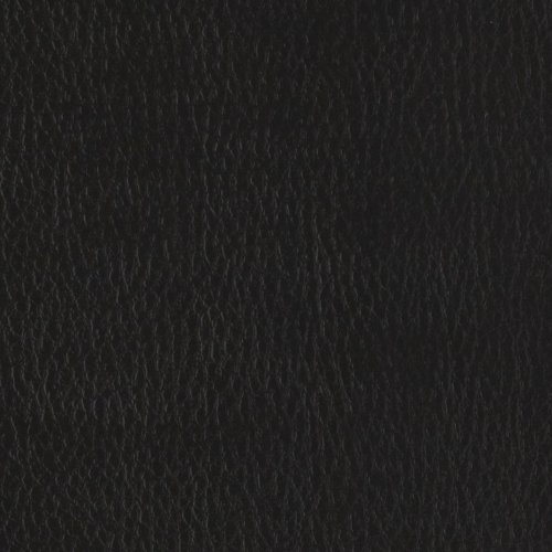 Flannel-Backed Faux Leather Deluxe Black Fabric By The (Black Faux Leather)