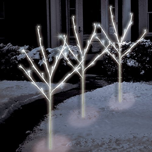 Brite Star 46-391-00 Traditional 60 Twinkling LED Light 3ct Twig Pathmakers Mini Pure White ()