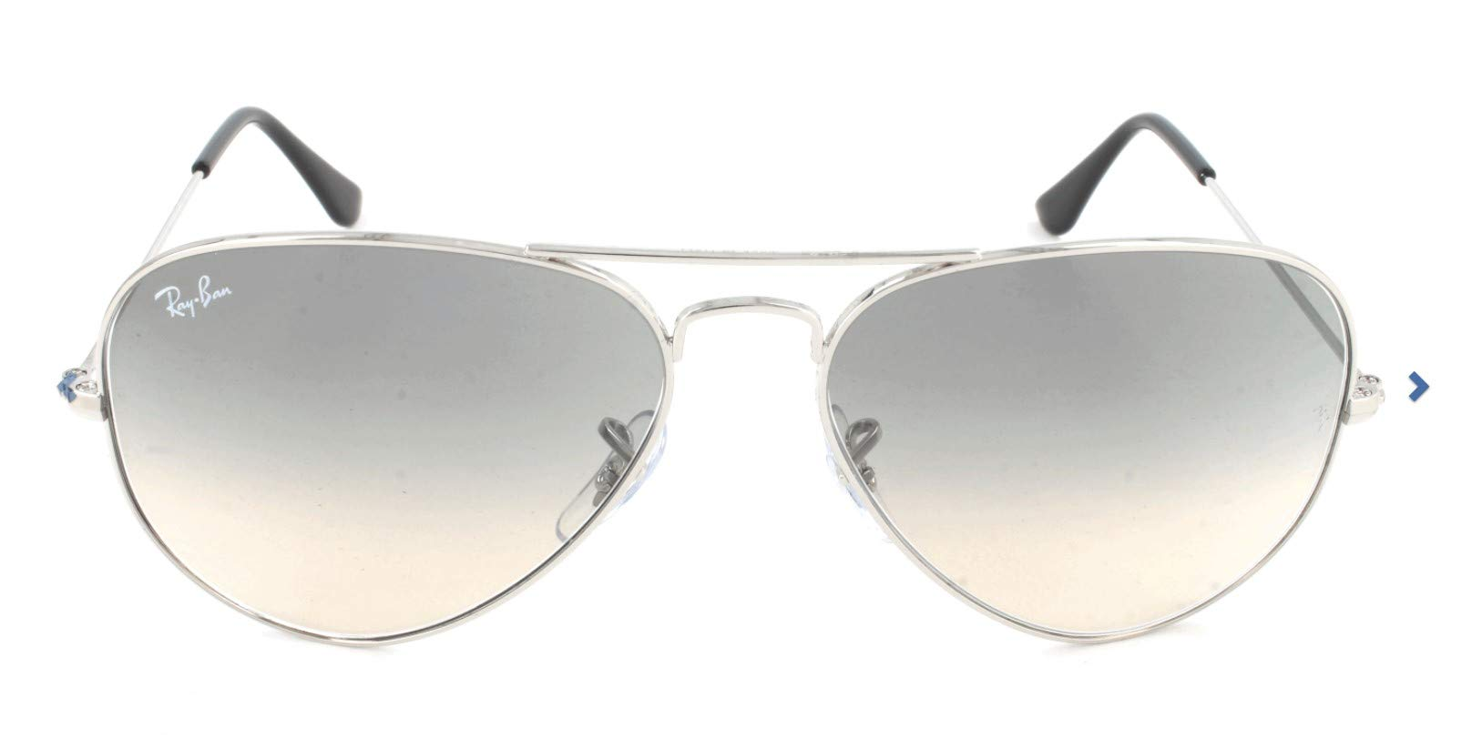 Ray-Ban Aviator Classic, Silver/ Crystal Grey Gradient, 55 mm by RAY-BAN