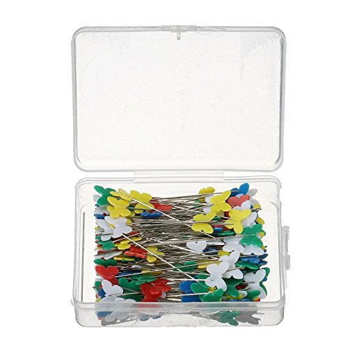 ZjKnitting - 200Pcs Sewing accessories patchwork pins Colorful Butterfly Shape pin by ZjKnitting