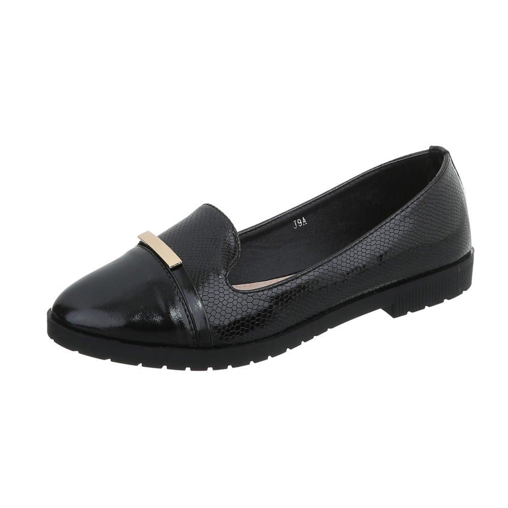 Ital-Design Zapatos para Mujer Mocasines Tacón Ancho Slip-On: Amazon.es: Zapatos y complementos