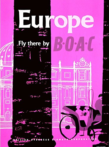 MAGNET Europe Fly there by B-O-A-C Vintage