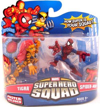 Marvel Super Hero Squad Tigra and SpiderMan