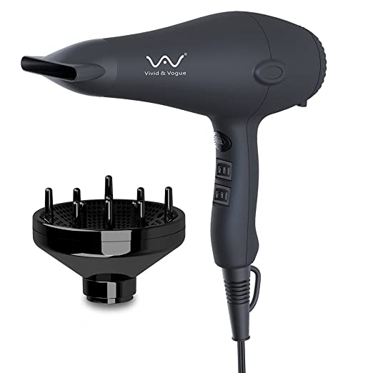VAV 1875W Lightweight Negative Ions Hair Blow Dryer – Best Blow Dryer for Natural Curly Hair