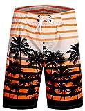 APTRO Swim Trunks Bathing Suits Men Hawaiian Shorts #1525 Orange XL