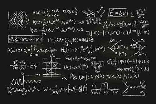 (Quantum Physics Formula Blackboard Illustration Art Print Mural Giant Poster 54x36 inch)