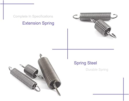 Gearway 5Pcs Extension Spring with Hooks 1mm Thickness Small Tension Springs 70//80//90//100//120//130mm Steel Long Extension Spring 1X8X100mm