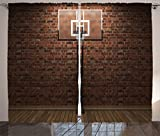 Best basketball hoop measurement - Sports Decor Curtains by Ambesonne, Old Brick Wall Review