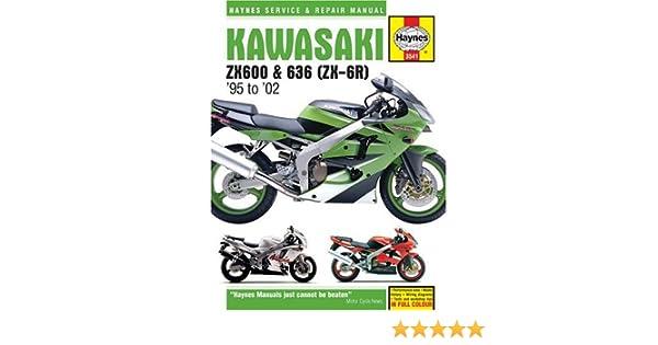 kawasaki zx600 636 zx 6r 1995 2002 haynes service and repair rh amazon com