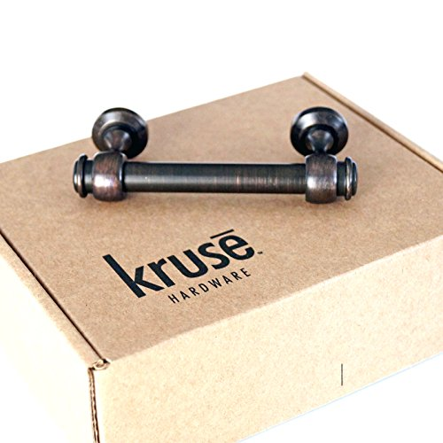 (Qty 10 per Package) Kruse Hardware - Milano Door and Drawer Pulls - 3in Center-to-Center, Oil Rubbed Bronze