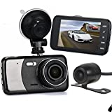 Dash Cam, Paymenow Quad Core 4″ IPS 1080P HD Car DVR Camera Video Recorder Camcorder for Vehicles Front and Rear Views with Backup Camera and G-sensor