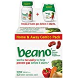 Beano - Food Enzyme Dietary Supplement, Stops Gas Before It Starts, 132 Tablets